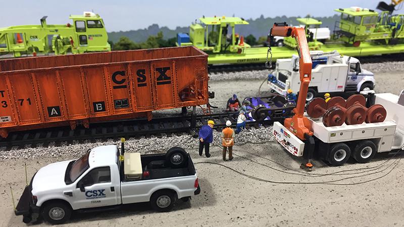 Csx Railroad Mow Freight Car Wheel Change