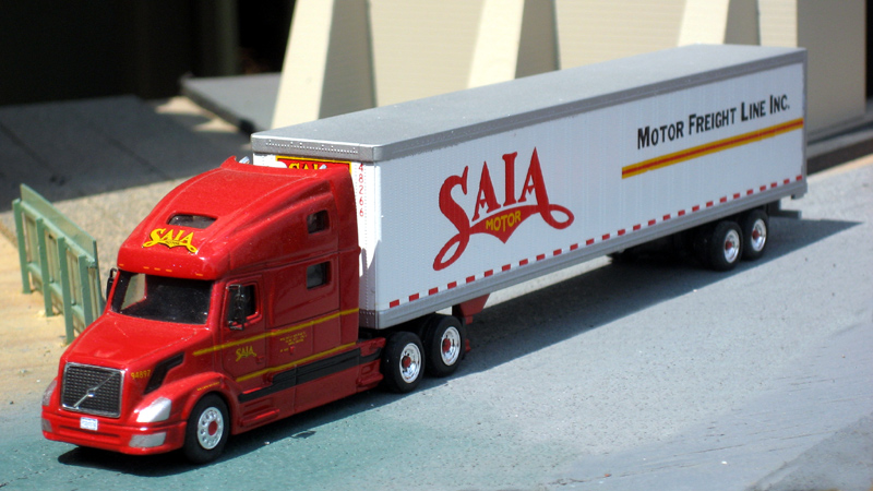 Saia Motor Lines Volvo VNL780 & 53' Van Trailer