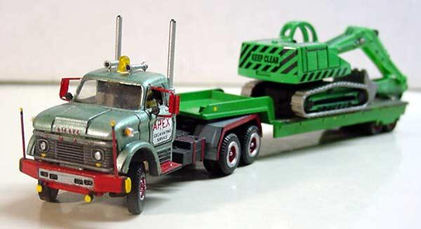 Ford N-800 Truck Tractor & Lowboy Trailer