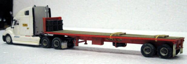 J B Hunt Freightliner Columbia Amp 40 Trailmobile Flatbed