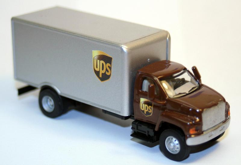 Ups Gmc Topkick Straight Truck By David Collins