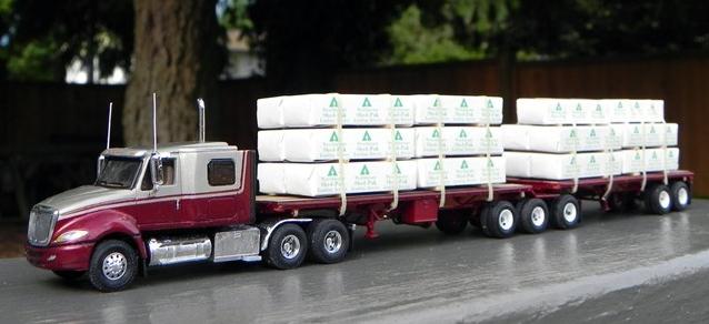 International Prostar Truck Tractor B Train Lumber Flatbed Trailers By Jim Groeneweg