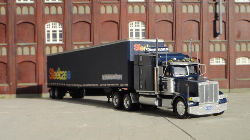 Steelcase Peterbilt 378 Truck Tractor Amp 53 Trailer By