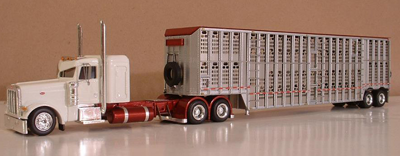 Peterbilt 389 Truck Tractor Amp 50 Barrett Livestock Trailer