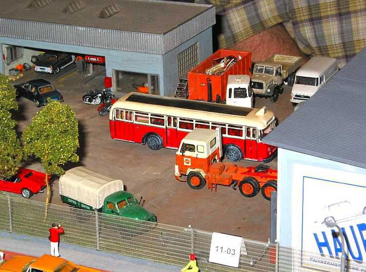 Auto truck shop diorama for Garage seguin 87